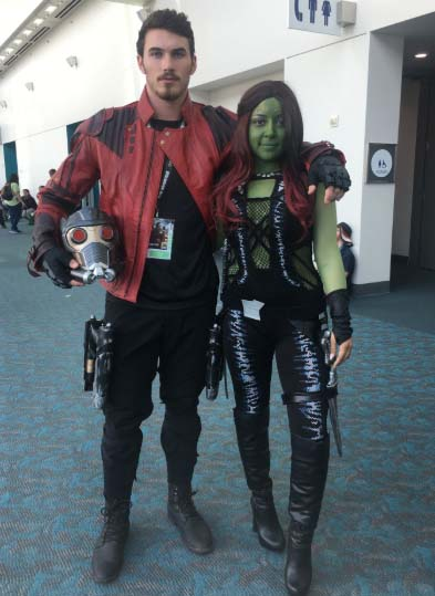 star lord and gamora cosplay game con